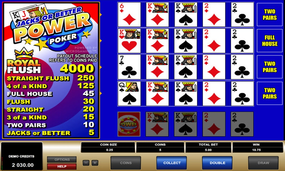 Jacks or Better Video Poker Review - Win up to $20,000